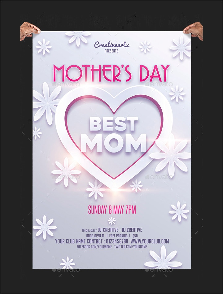 mother%e2%80%99s day flyer template