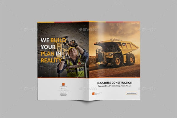 Construction Company Catalog Brochure