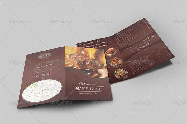 Food Company Menu Brochure