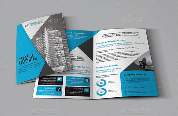 Business Company Bifold Brochure