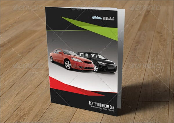 Car Rental Company Bifold Brochure