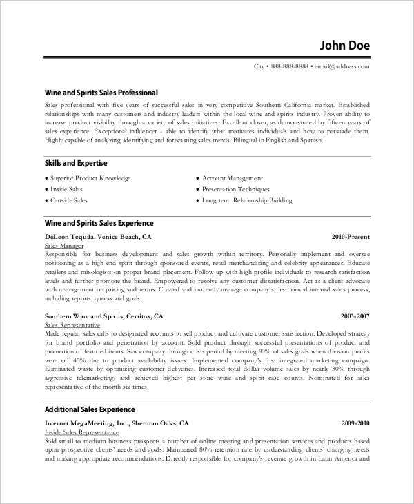 sales executive resume templates 11 free word pdf format. Resume Example. Resume CV Cover Letter