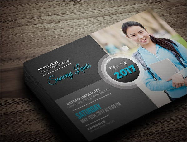 free graduation photo invitation