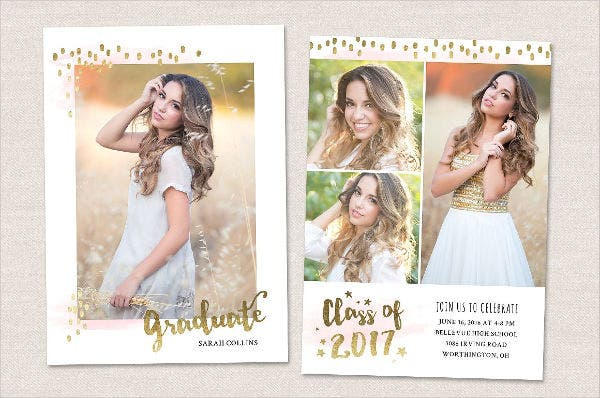 Graduation Photo Invitation Card