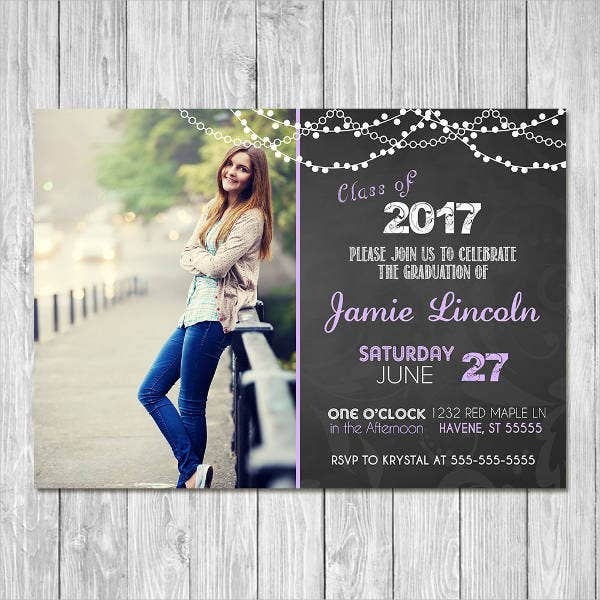Printable Graduation Photo Invitation