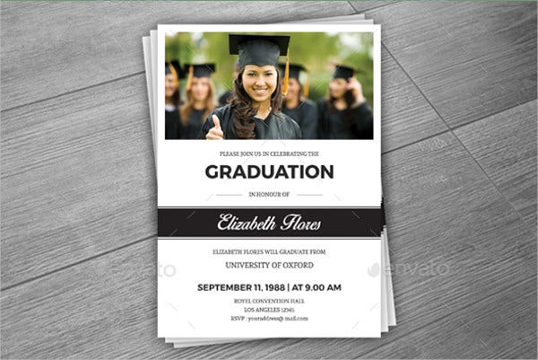 Unique Graduation Photo Invitation