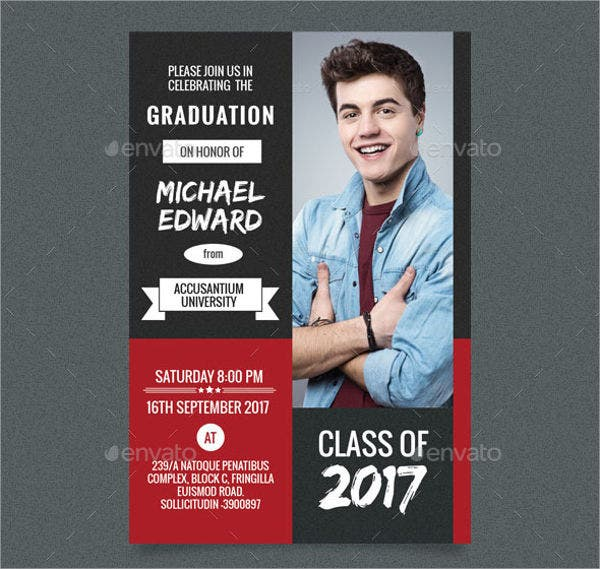 college graduation photo invitation