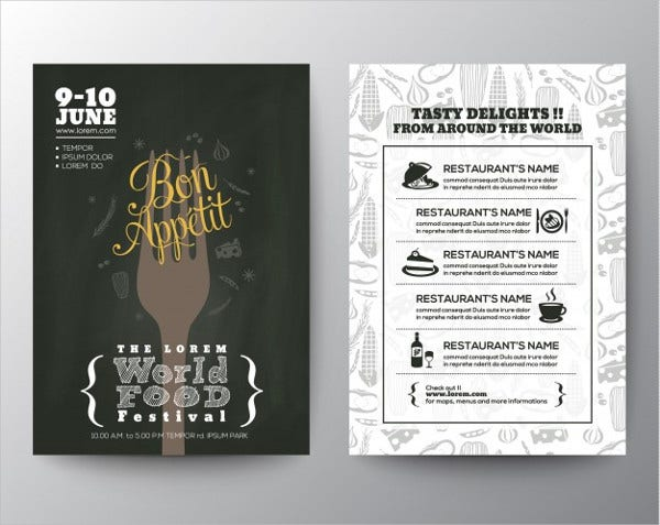 Food Festival Company Brochure