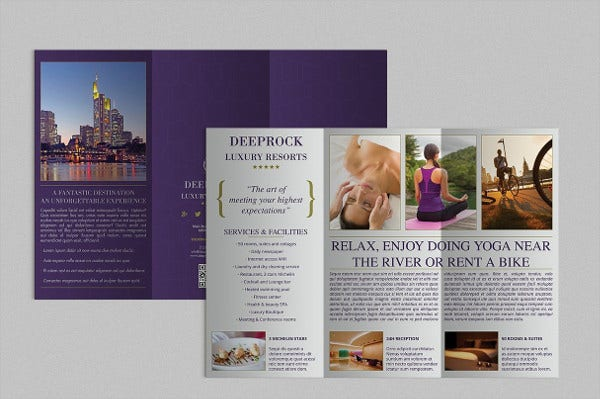 hotel event advertising brochure3