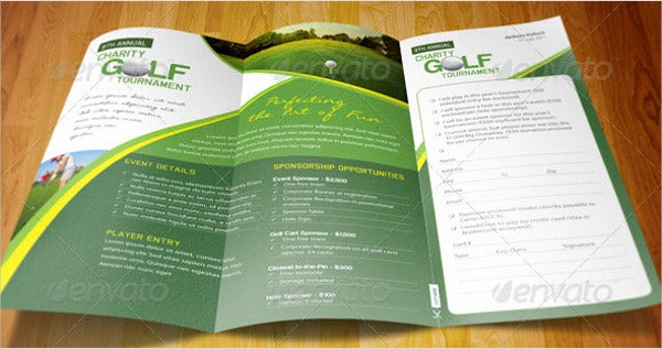 40 event brochure templates free premium templates for Golf tournament program template