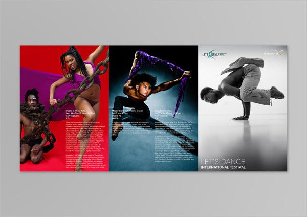 Dance Festival Event Brochure