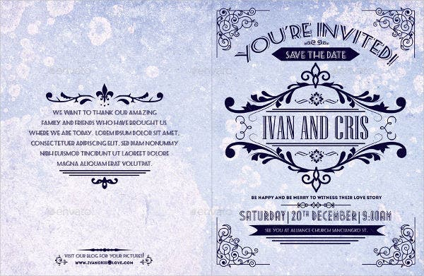 vintage wedding event brochure2