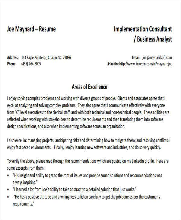 business analystconsultant resume. Resume Example. Resume CV Cover Letter