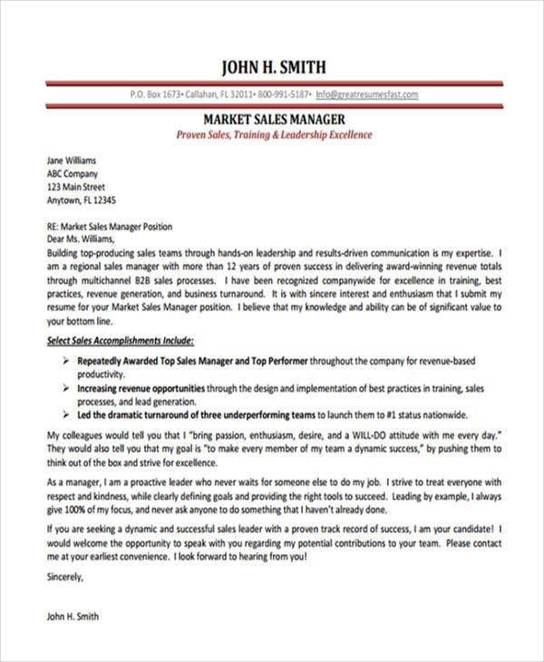 11+ Job Application Letters For Manager - Free Word, Pdf Format