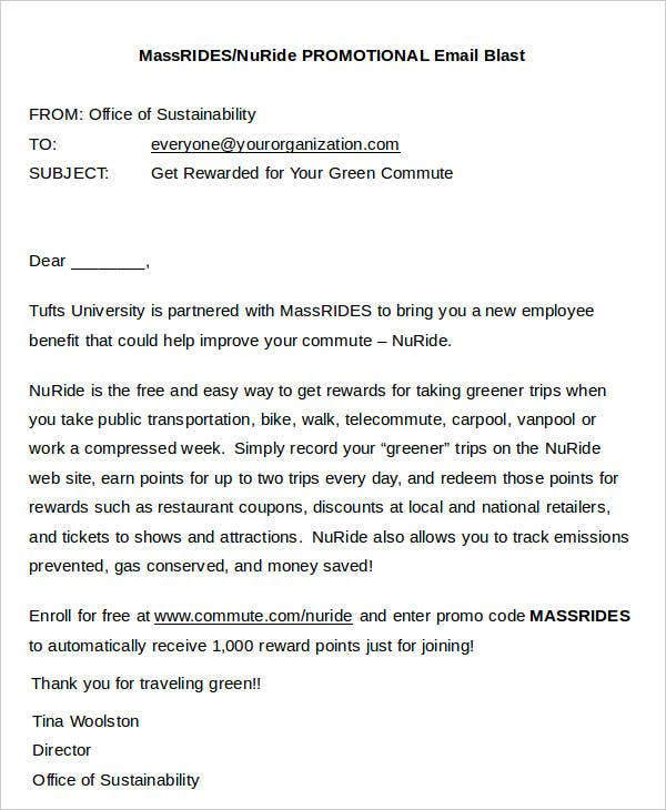 nuride promotional email