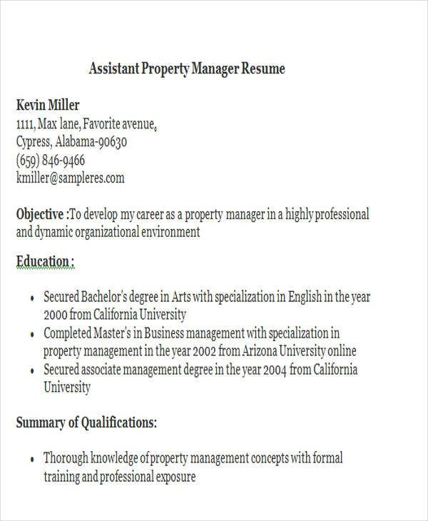 Assistant Property Manager Resume. Bestsampleresume.com  Assistant Property Manager Resume
