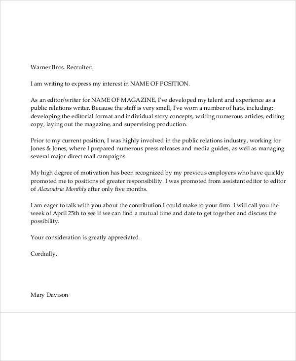 9 sample email application letters free premium templates