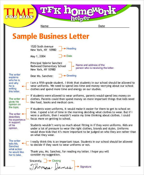 Letter Templates For Kids  Free Word Pdf Documents Download