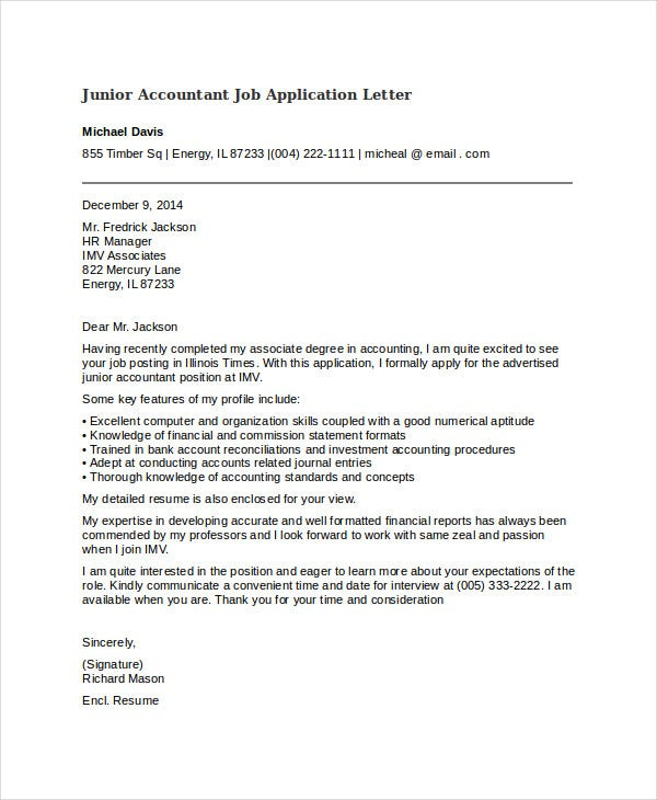 40 job application letters in pdf free premium templates junior accountant job application letter coverlettersandresume details file format altavistaventures Gallery