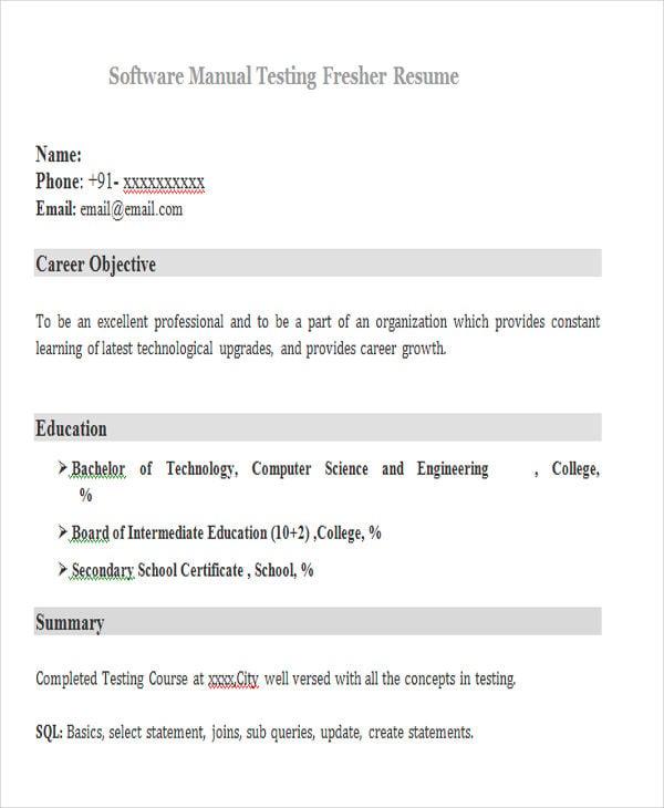 23+ Modern Fresher Resume Templates | Free & Premium Templates