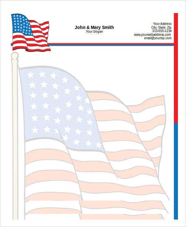 Patriotic Letter Template for Kids