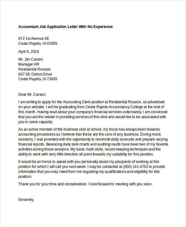job application letter ending