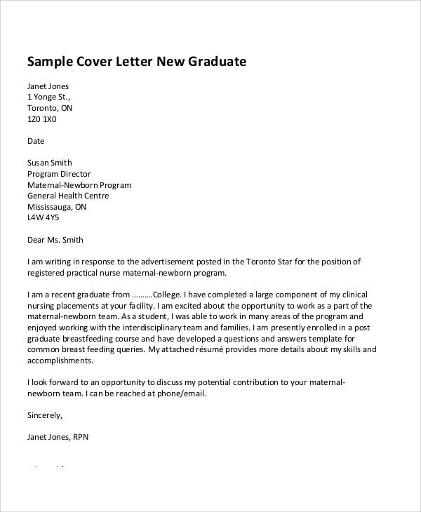 Graduate Marketing Cover Letter