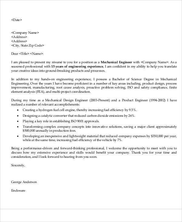 mechanical engineer job application letter2