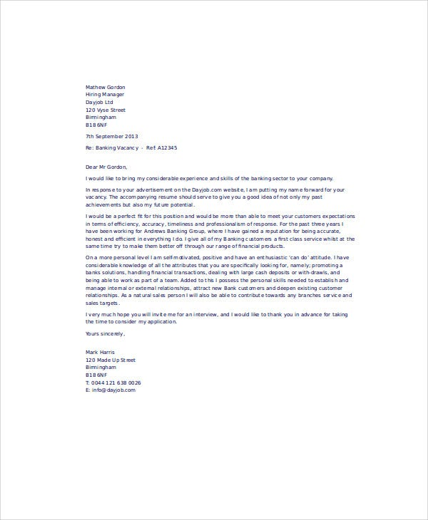letter of application for work experience in childcare