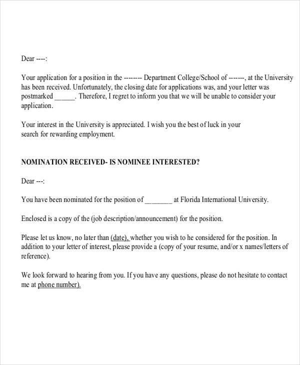 Job application regret letter sample regret job offer letter sample job letter sample simple expocarfo Choice Image