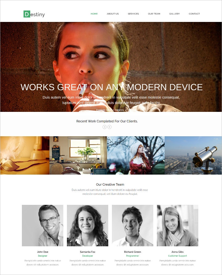 fully-responsive-html-template