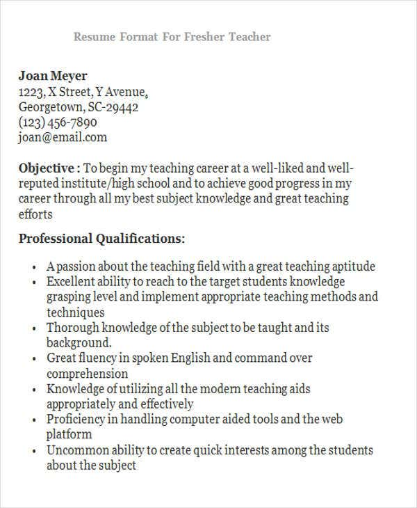 28+ Teacher Resume Templates Download