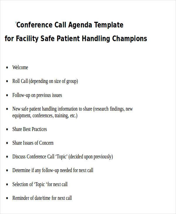 33  agenda template designs
