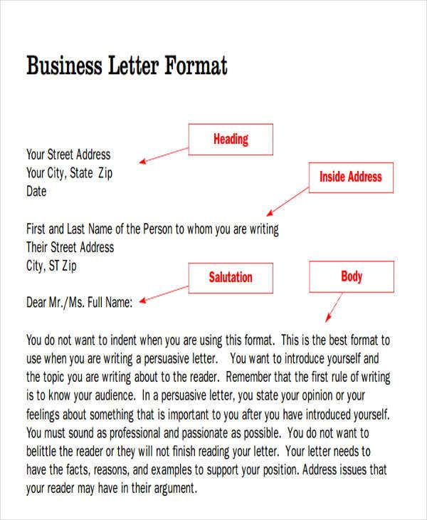 55 formal letter examples free premium templates formal business letter format m4hsunfo