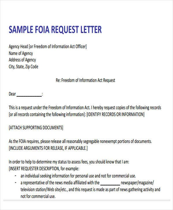 formal request letter format sample
