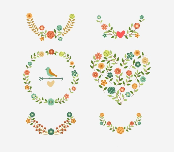 floral-decoration-vector