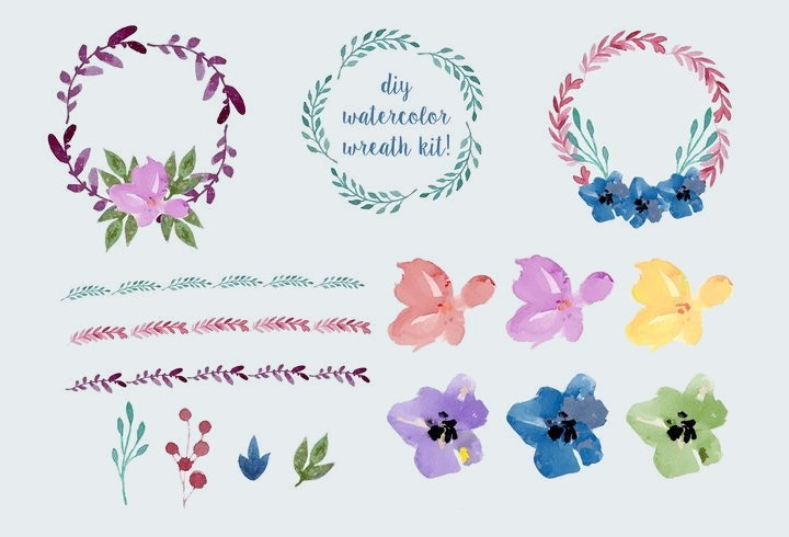 watercolor-floral-wreath-vectors
