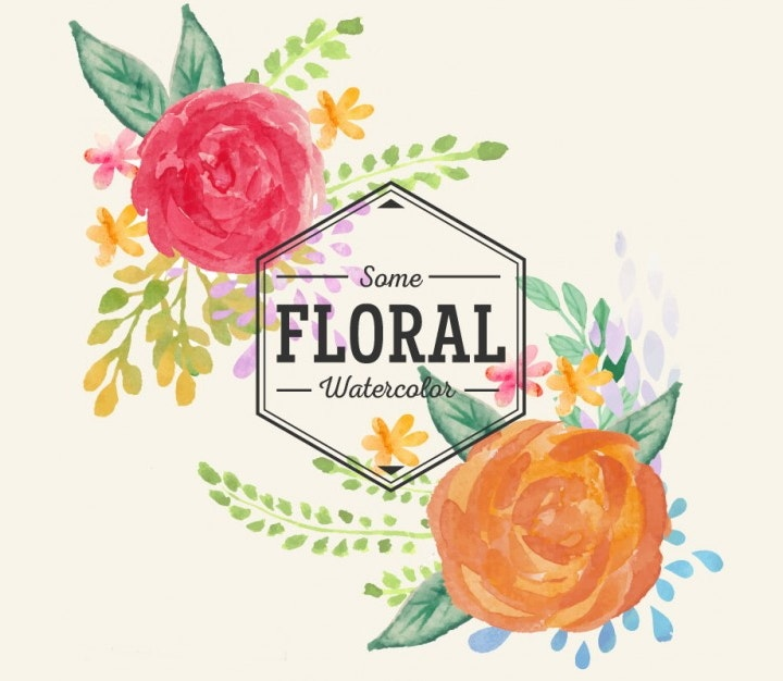 handpainted-watercolor-floral-vector