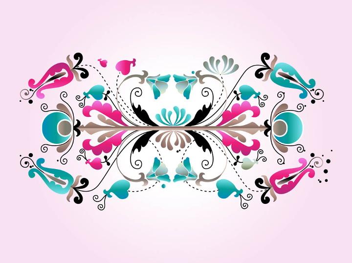 floral swirl design vector