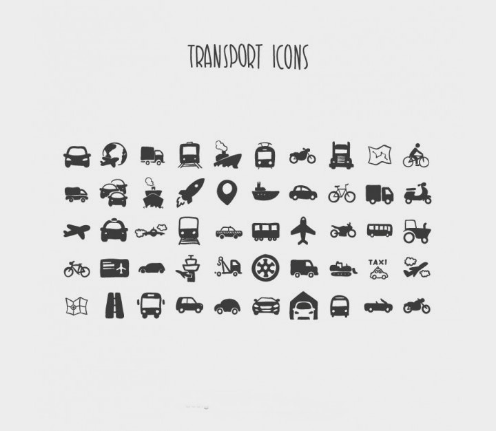 transport-icons-vector