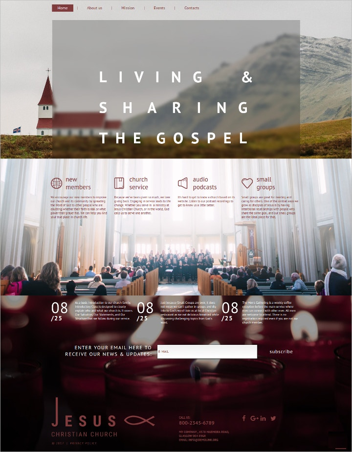 church-moto-html-template