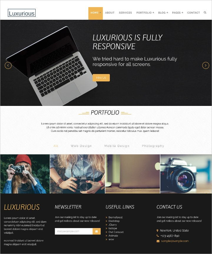 creative-html-template