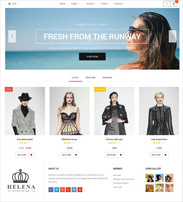 store-html-template