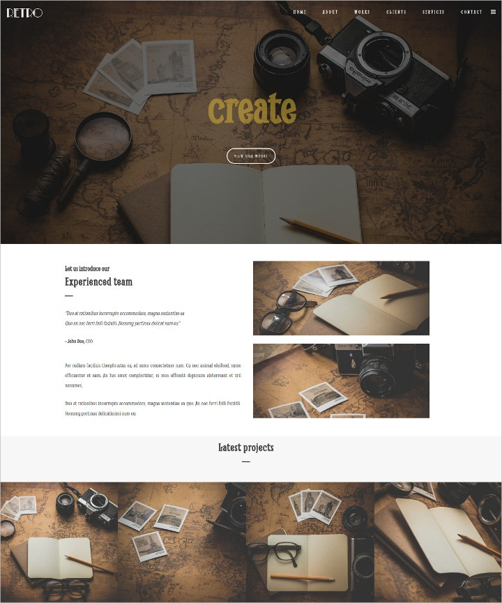retro-one-page-html-template