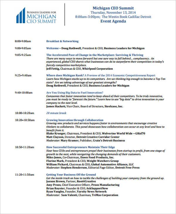 corporate event agenda1