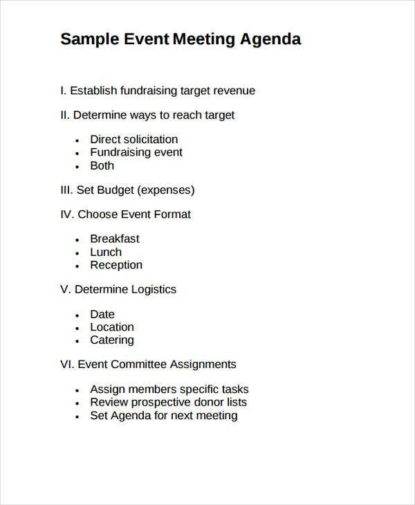 Sample Event Meeting