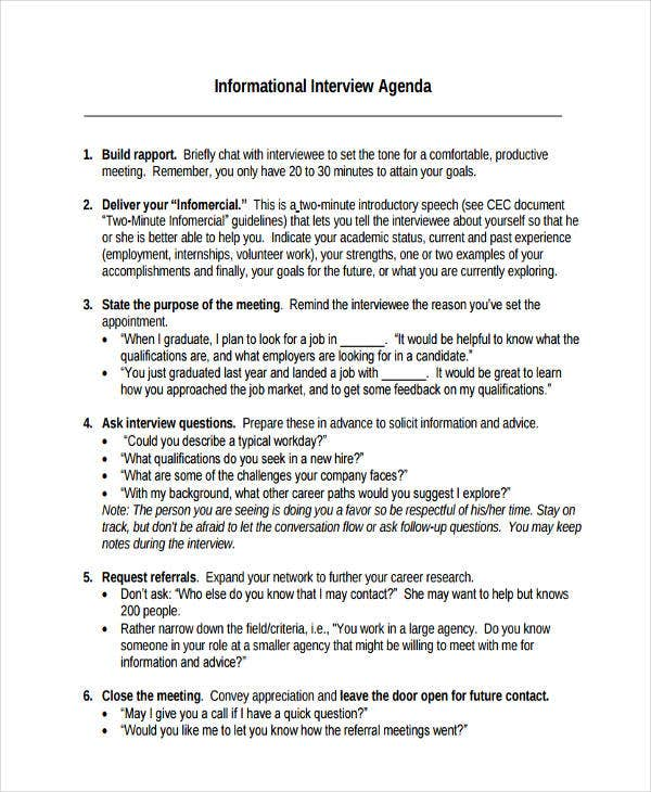 200 informational interview questions