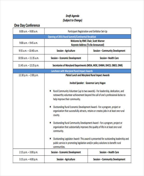 Sample Conference Agenda Here Is Preview Of Another Sample Seminar