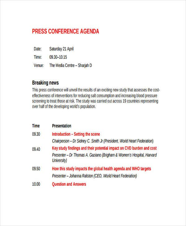 Sample Press Conference
