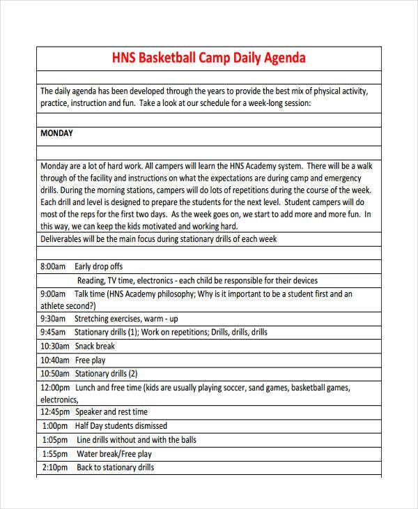 Basketball Daily Camp